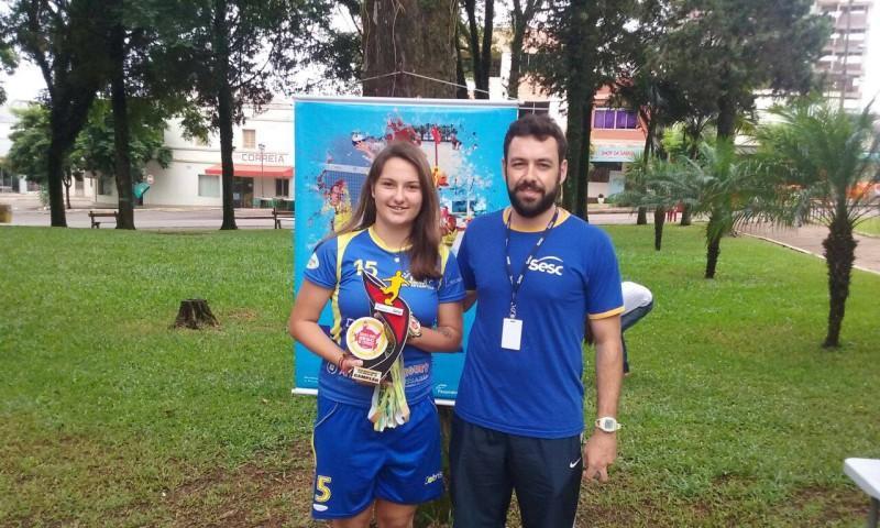Representante campeã feminino Beach Soccer- RF Contruir Construtora Cresol CMD Constantina