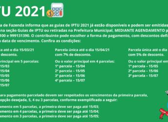 Guias de pagamento de IPTU já estão disponíveis