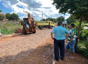 Prefeito Fidel acompanha trabalhos da Secretaria de Obras