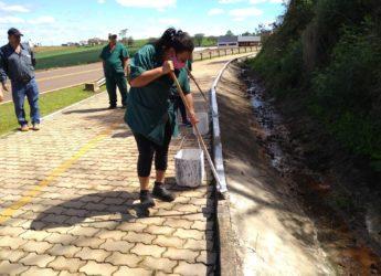 Secretaria de Obras realiza trabalhos de limpeza, manutenção e pintura