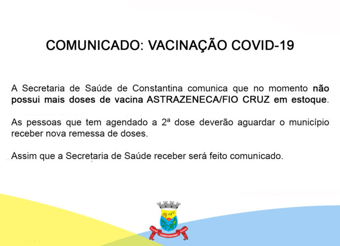 Comunicado: Vacinação COVID-19